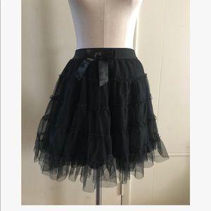 Betsey Johnson Black Tulle Skirt